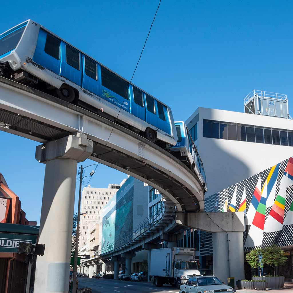 Metro, Rail, Mover, Miami, Transportation